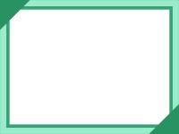 シンプルな緑線のフレーム飾り枠イラスト