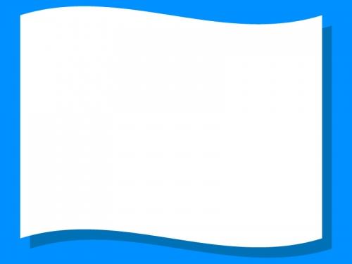 旗風になびいたフレーム飾り枠イラスト