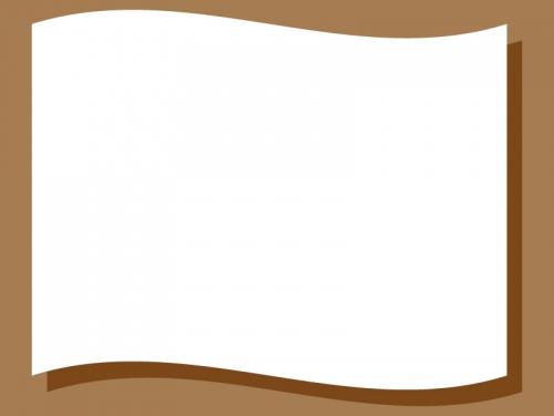 旗風になびいたフレーム飾り枠イラスト02