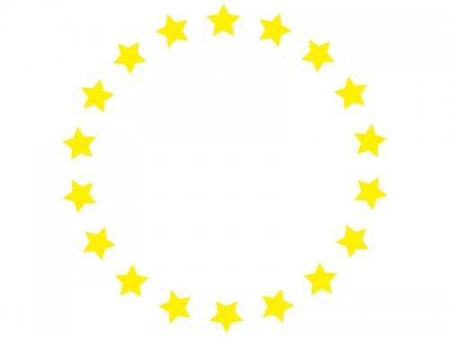 黄色い星のフレーム飾り枠イラスト