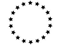 黒い星のフレーム飾り枠イラスト