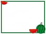 シンプルなスイカのフレーム飾り枠イラスト