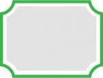 シンプルな緑色のフレーム飾り枠イラスト
