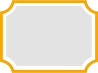 シンプルなオレンジ色のフレーム飾り枠イラスト