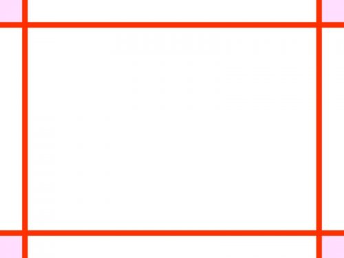 シンプルな赤い線のフレーム飾り枠イラスト