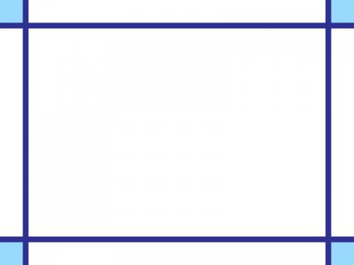 シンプルな青い線のフレーム飾り枠イラスト 無料イラスト かわいい