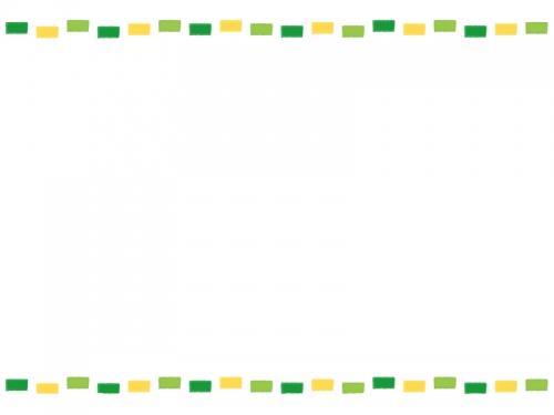 カラフル点線・グリーン系のフレーム飾り枠イラスト