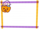 ハロウィン・マスキングテープ風フレーム飾り枠イラスト