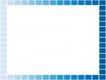 水色と青のグラデーションのフレーム飾り枠イラスト