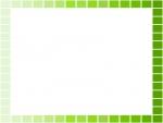 黄緑と緑のグラデーションのフレーム飾り枠イラスト
