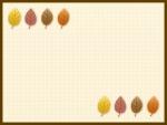 落ち葉のベージュ色フレーム飾り枠イラスト