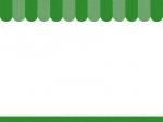 緑色のショップ風のフレーム飾り枠イラスト