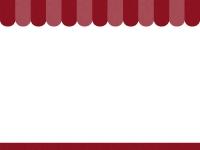 えんじ色のショップ風のフレーム飾り枠イラスト