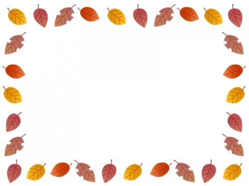 秋の紅葉のフレーム飾り枠イラスト