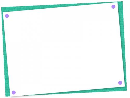 斜めの用紙のフレーム飾り枠イラスト02
