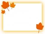 紅葉・楓(かえで)のフレーム飾り枠イラスト