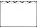 破ったリングノートの黒フレーム飾り枠イラスト