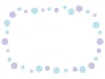 ふんわり水玉のフレーム飾り枠イラスト02