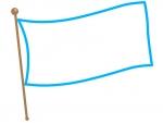 なびいた旗のフレーム飾り枠イラスト02