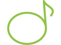 音符のフレーム飾り枠イラスト