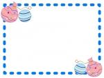 水風船の点線フレーム飾り枠イラスト