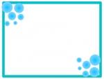 アクア風のフレーム飾り枠イラスト