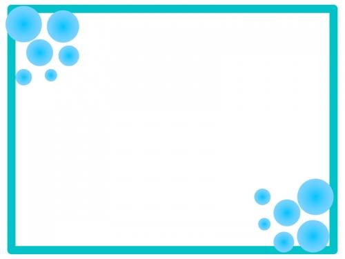 アクア風のフレーム飾り枠イラスト 無料イラスト かわいいフリー素材集