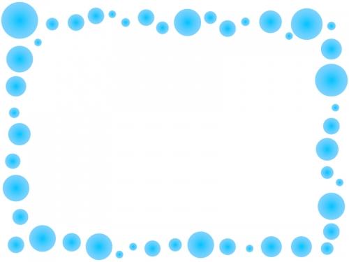 涼しげなアクア風のフレーム飾り枠イラスト
