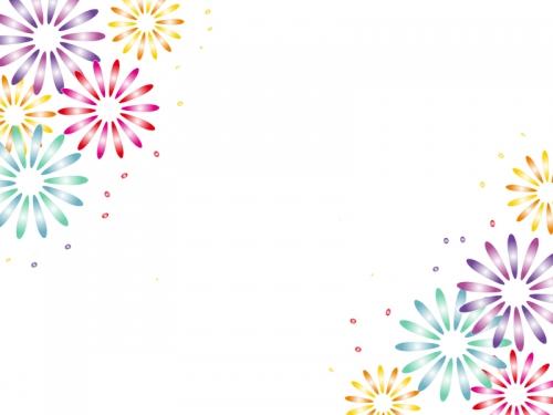 花火のフレーム飾り枠イラスト