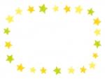 落書き風の星のフレーム飾り枠イラスト
