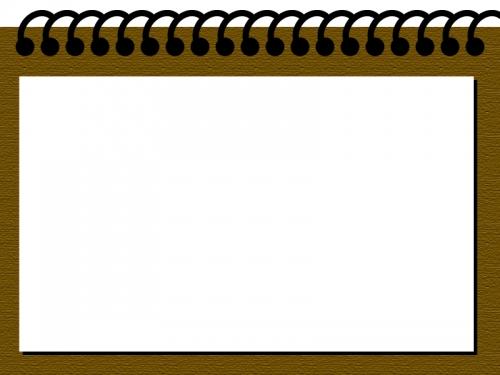 茶色のバインダー風のフレーム飾り枠イラスト