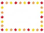 紅葉(もみじ)の囲みフレーム飾り枠イラスト02