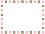 手書き風の四角ブロックのフレーム飾り枠イラスト
