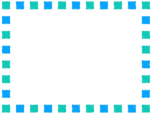 涼しげな手書き風のフレーム飾り枠イラスト