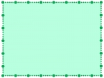 緑色の丸い点線のフレーム飾り枠イラスト