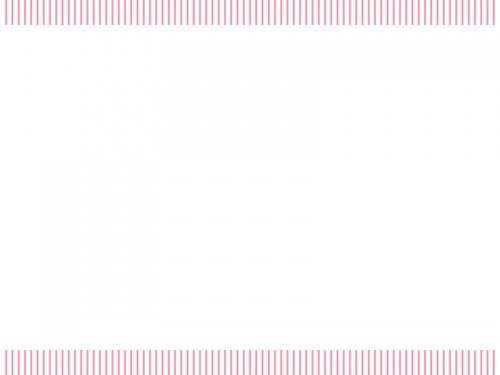 ピンクの縦ストライプのフレーム飾り枠イラスト