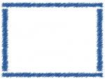 紺色の手書き風のフレーム飾り枠イラスト