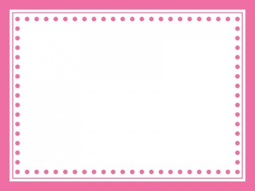 かわいいピンク色のシンプルなフレーム飾り枠イラスト