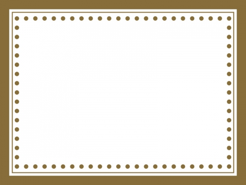 かわいい茶色のシンプルなフレーム飾り枠イラスト