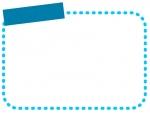 タイトル欄付きの点線のフレーム飾り枠イラスト