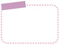 タイトル欄付きの点線のフレーム飾り枠イラスト02