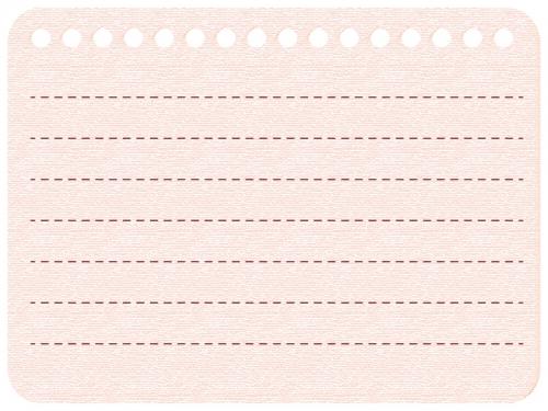 パステル色のノート風フレーム飾り枠イラスト 無料イラスト かわいい