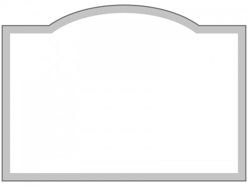 グレーのシンプルなフレーム飾り枠イラスト