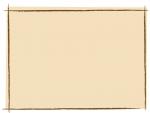 茶色の手書き線風のフレーム飾り枠イラスト