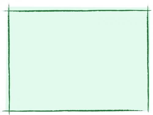緑色の手書き線風のフレーム飾り枠イラスト