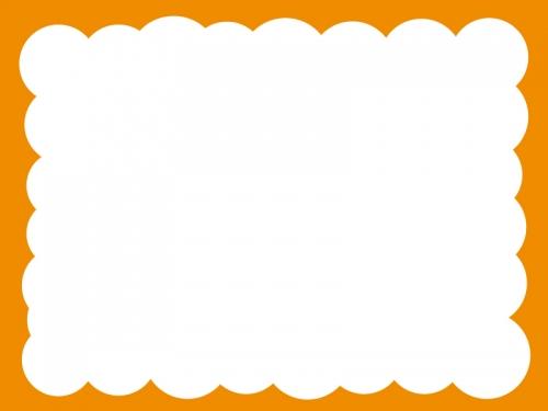 モコモコのフレーム飾り枠イラスト