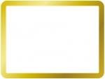 シンプルなゴールドのフレーム飾り枠イラスト