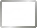 シンプルなシルバーのフレーム飾り枠イラスト