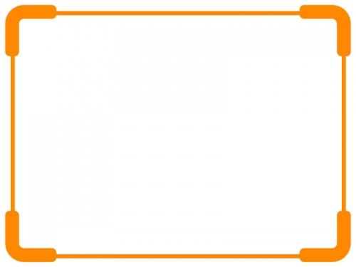 太角丸のシンプルフレームの飾り枠イラスト