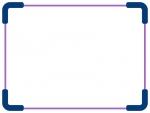 紫色の太角丸のシンプルフレームの飾り枠イラスト